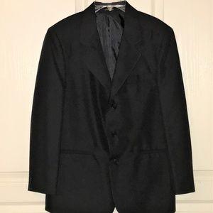 Boys Size 18 Reg Van Heusen Black Blazer